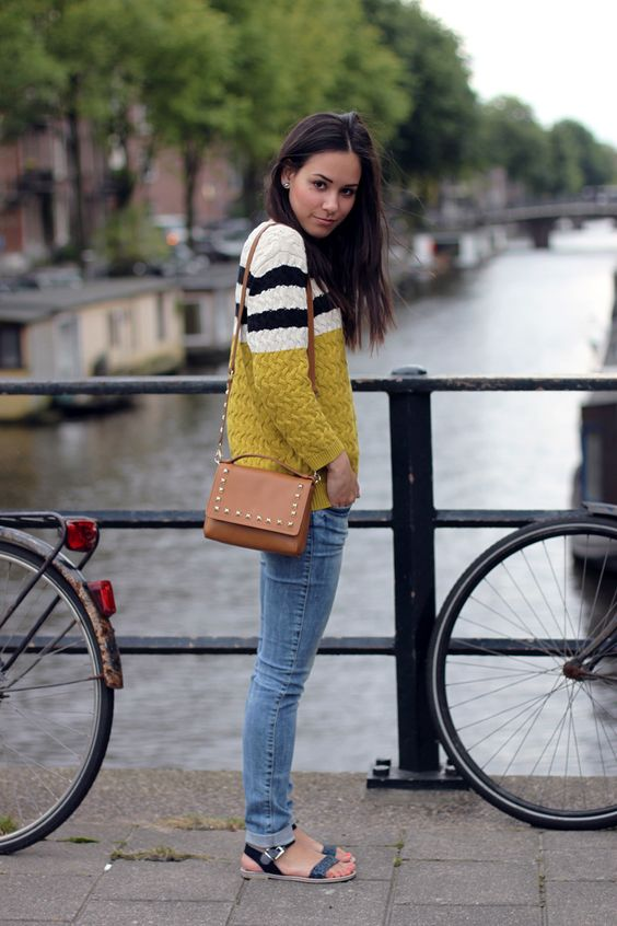 Bright Strip Sweater