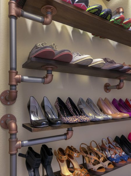 Wooden Shoe Storage Entryway