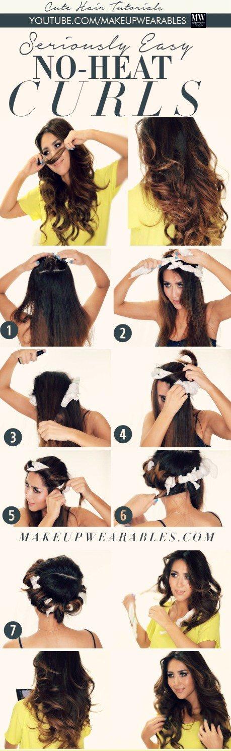 Easy No-Heat Curls