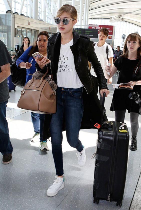 Gigi Hadid White Sneakers