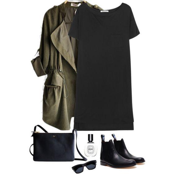 Green Blazer and Black Dress