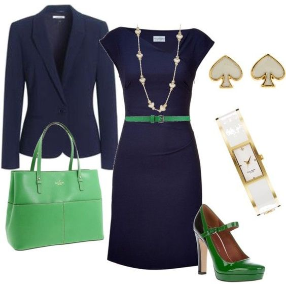 Green and Blue Outfit