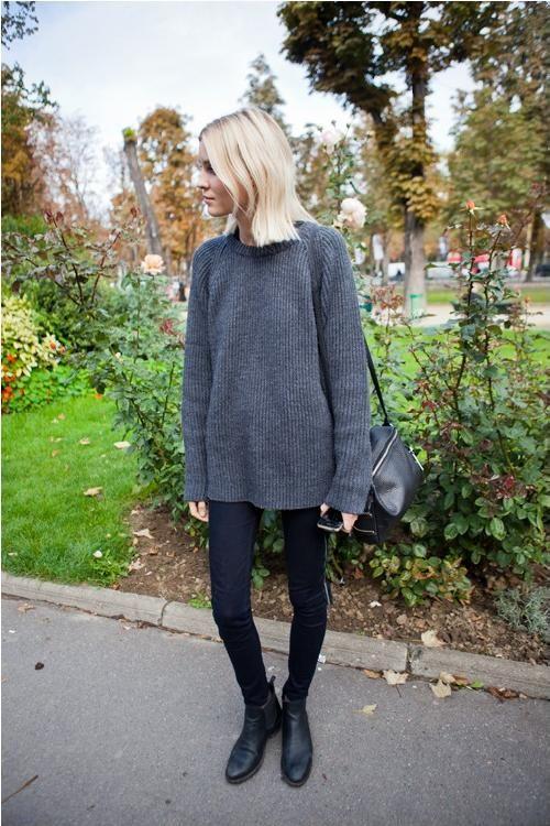 Grey Sweater and Leggings
