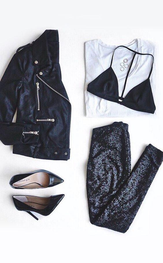 16 Jacket Outfit-ideeën die u graag wilt proberen Outfits  Leren jas