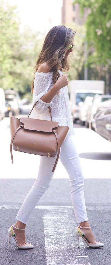 Lace Top and White Jeans