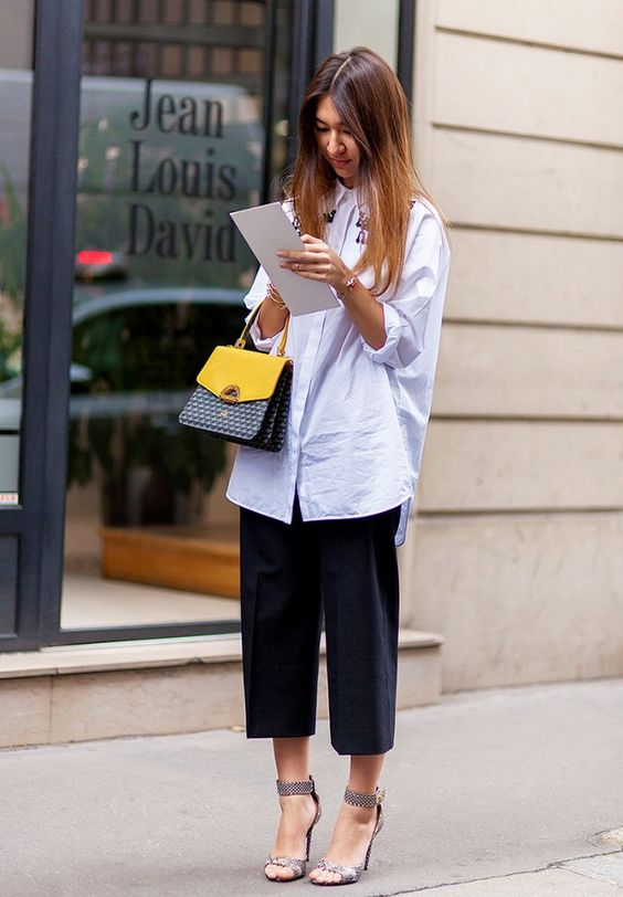 Loose Shirt and Culottes
