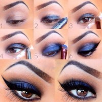 Metallic Blue Eye Makeup