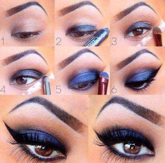 Metallic Blue Eye Makeup