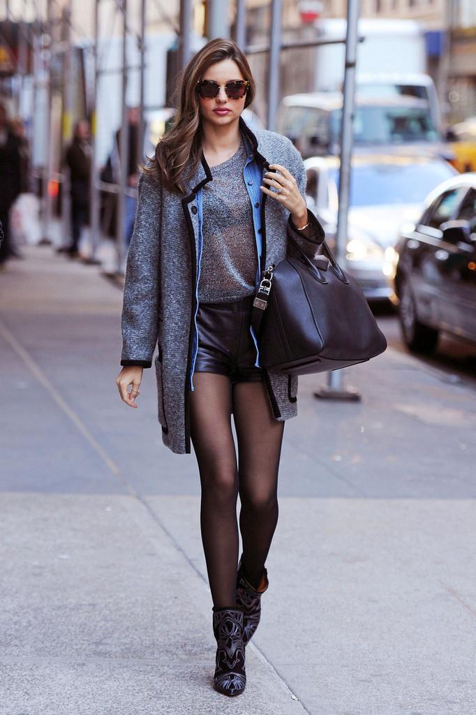 Miranda Kerr Grey Outfit