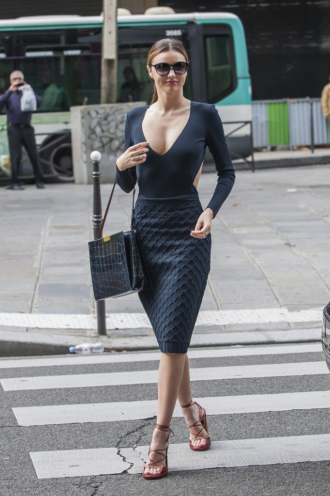 Miranda Kerr V-neck Dress