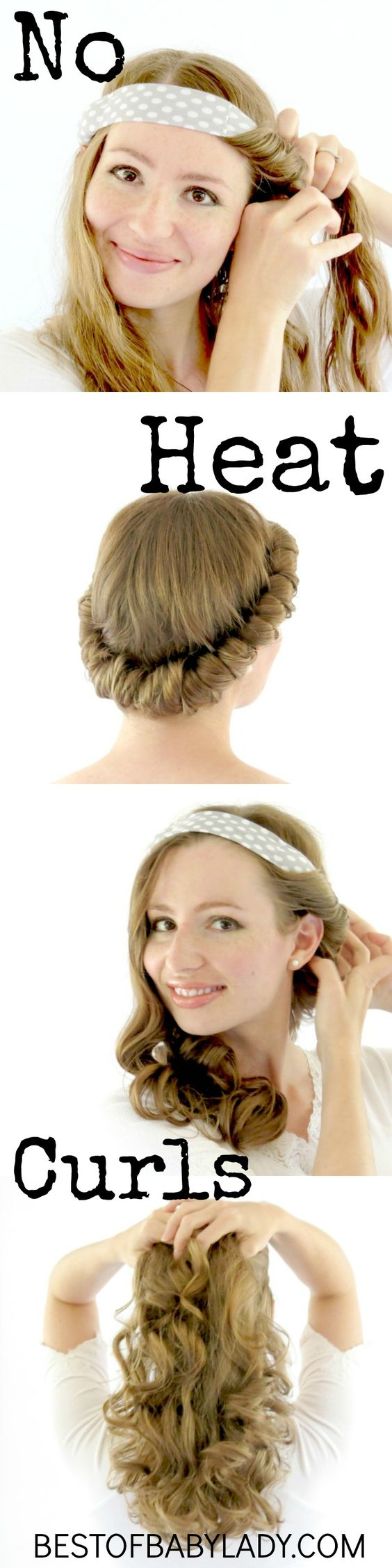 ways to style thick hair 12 easy ways to get no heat waves pretty designs 2701