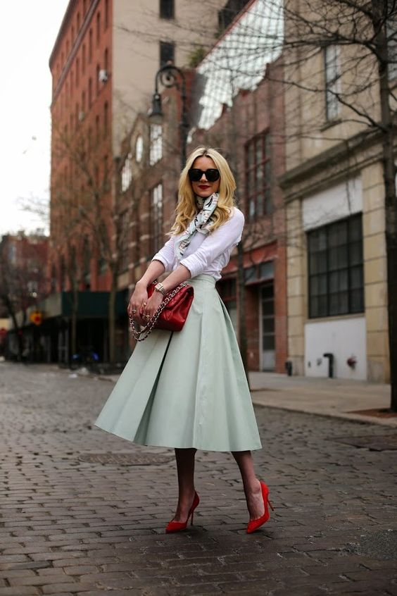 Pale Green Skirt
