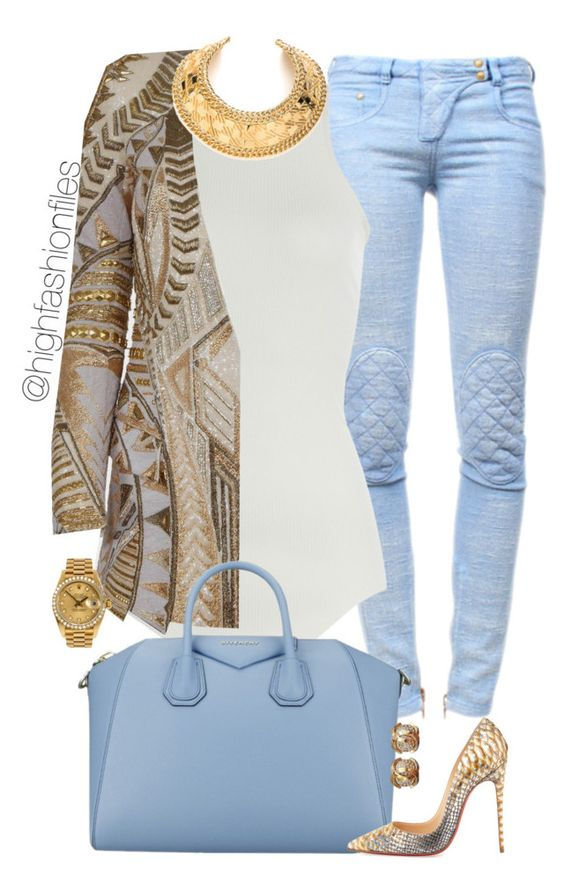 Print Coat and Serenity Blue Bag