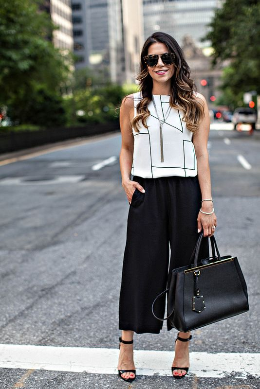 Print Top and Culottes