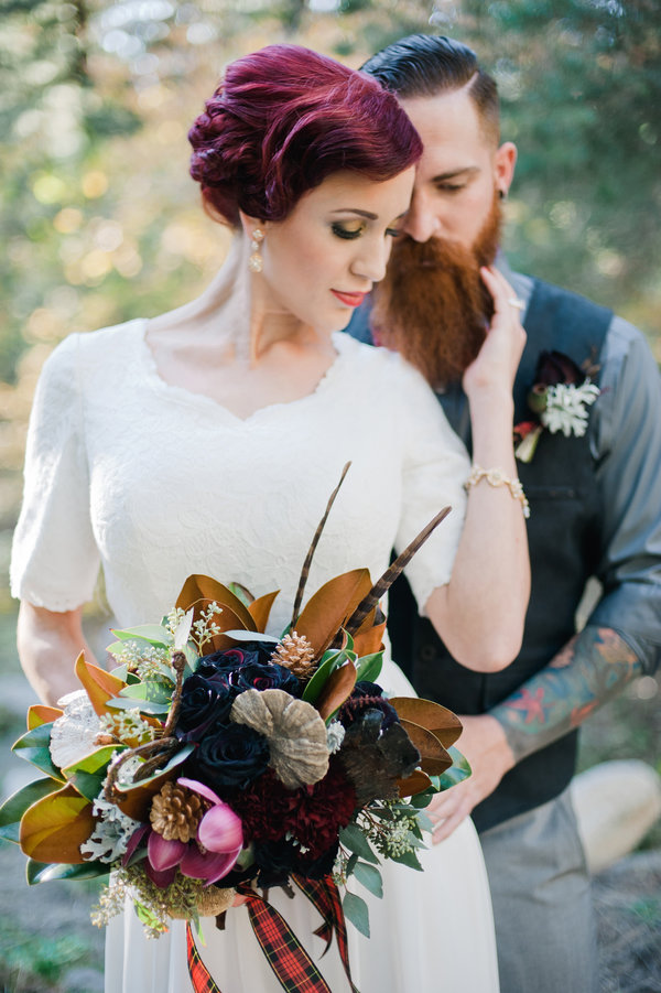 Purple Wedding Updo