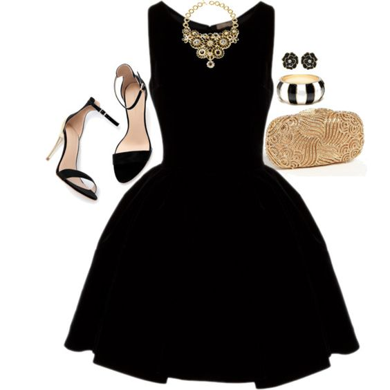 Sandals and Black Dress