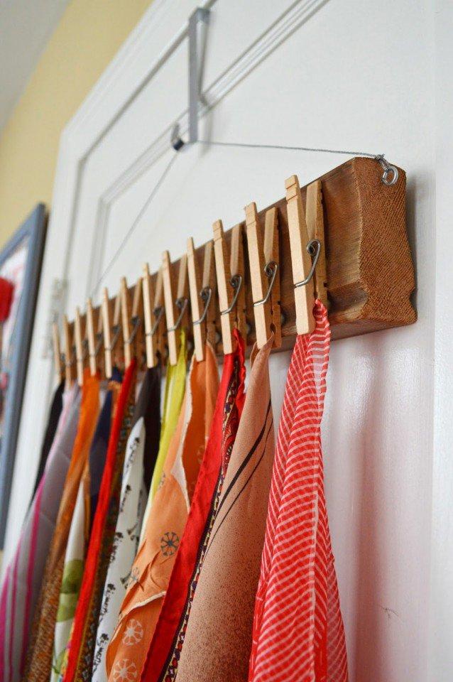 Scarves Storage Idea
