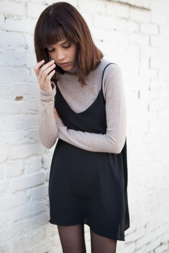 Slip Dress and Long Sleeve Tee