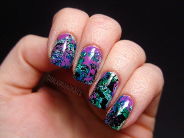 18 Interesting Splatter Nail Designs Pretty Designs