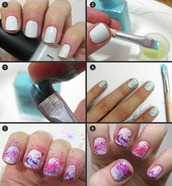 18 interesting splatter nail designs pretty designs splatter nail design solutioingenieria Gallery