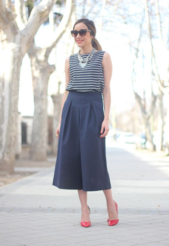 Striped Top and Culottes