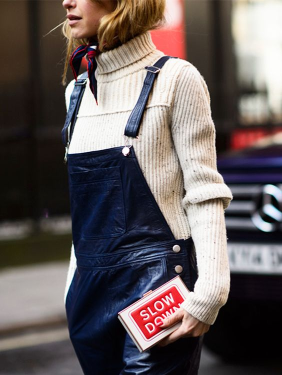 Sweater and Overalls
