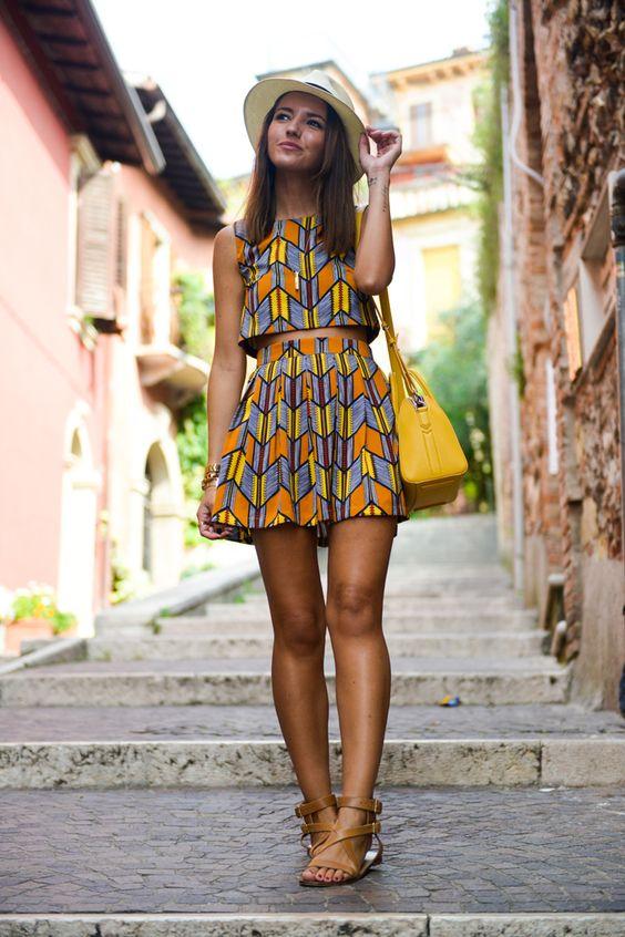 Trendy Crop Top and Skirt