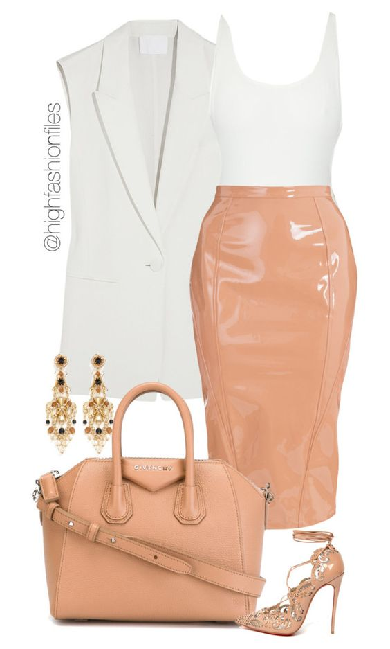 White Vest and Pastel Pink Skirt