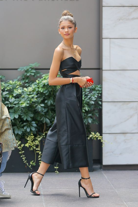 Zendaya Crop Top and Culottes