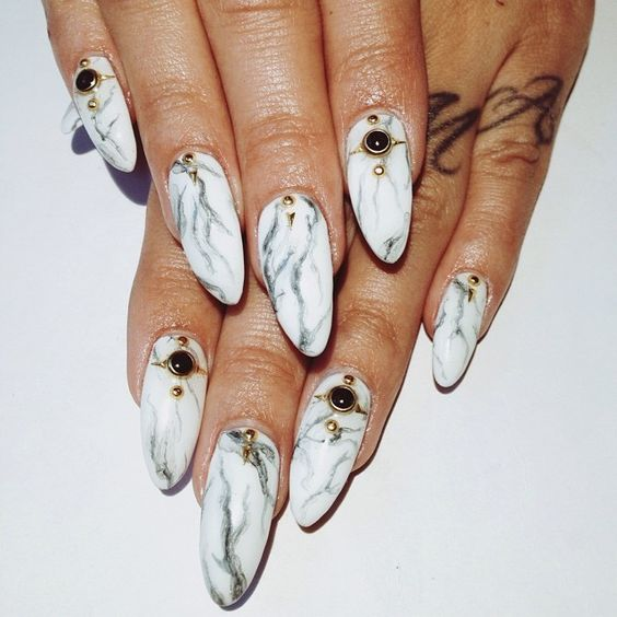 20 Magnificent Stone Nail Art Designs Pretty Designs