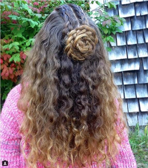 Half Up Braid Hairstyle