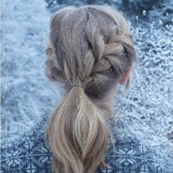 Braid Ponytail Hairstyle for Kids