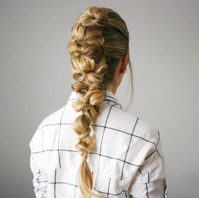 Stunning Braid Ponytail Hairstyle