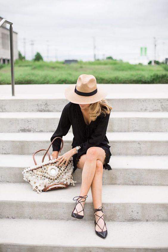Black Dress and Flats