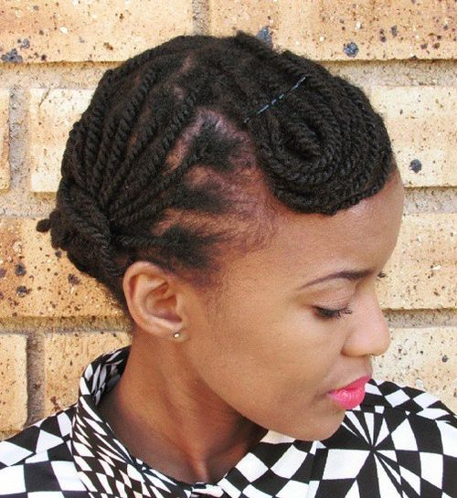 20 Fun Twisted Hairstyles for Natural Hair - African American Hair ...