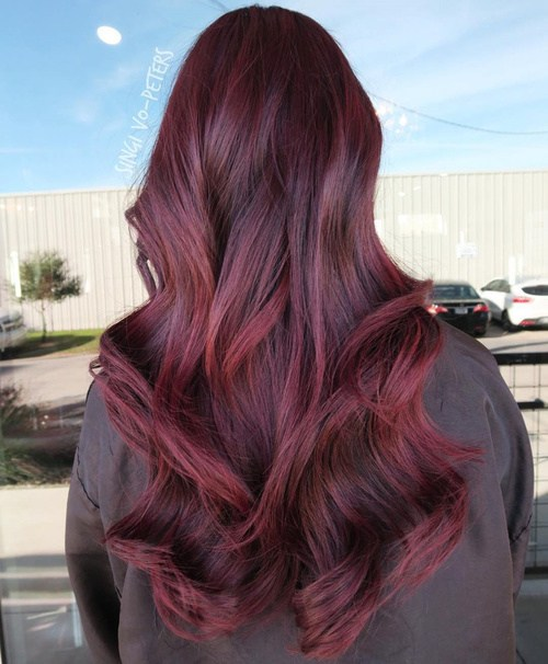 Black and Red Curls