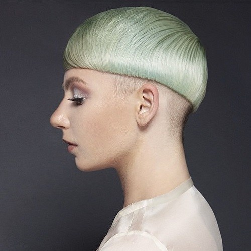 Blend Colored Bowl Hair