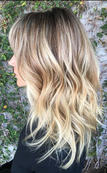 Blond Sombre Hairstyle