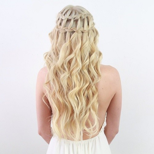 Blonde Waterfall Braid