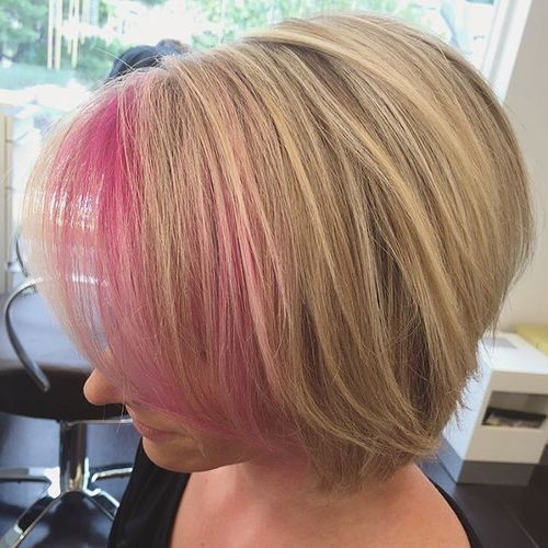 Blush Highlighted Hair