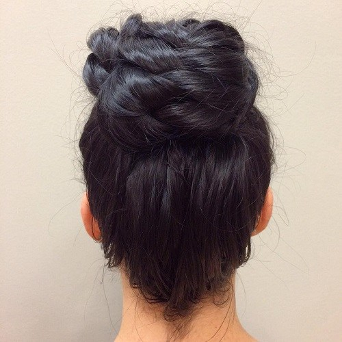 Braid-up Bun
