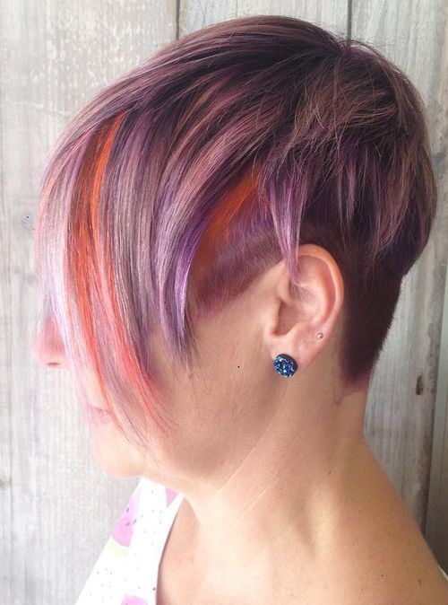 Bright Color Short Hair