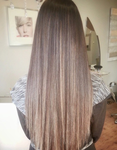 Brown Highlighted Hair