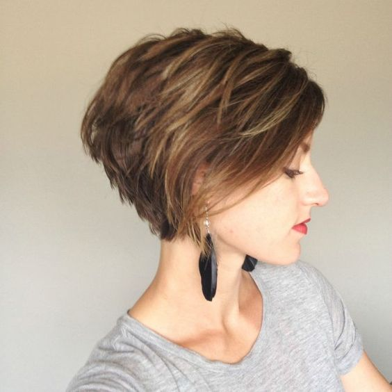 Brown Layered Bob
