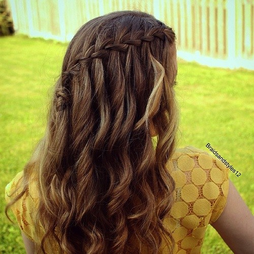 Brown Waterfall Braid