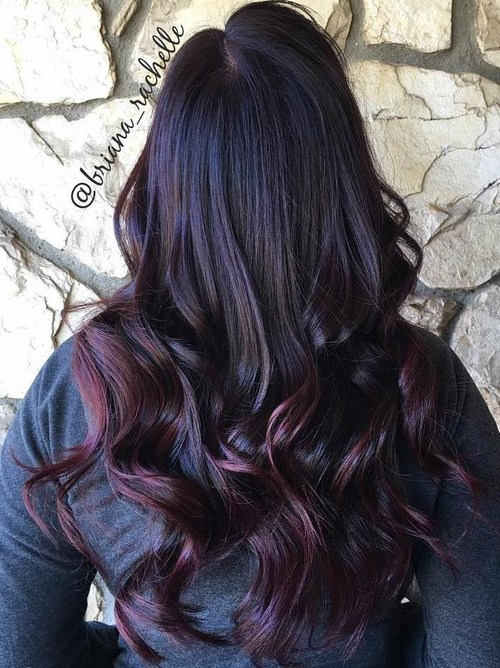 Burgundy Highlighted Hairstyle