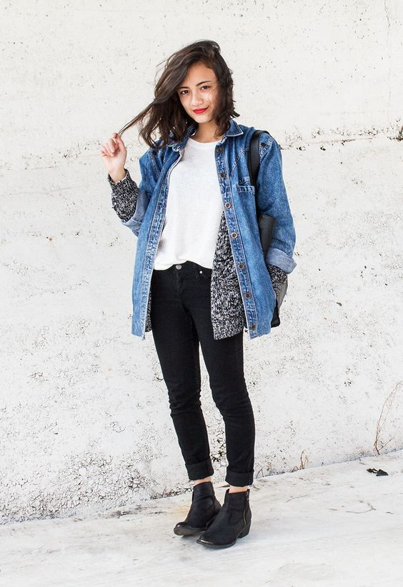 Cardigan and Denim Jacket - Pretty Designs