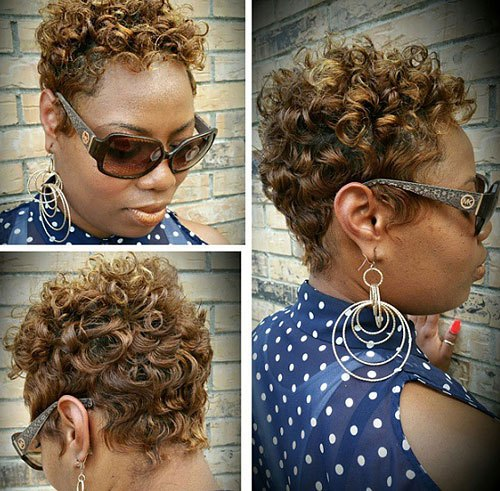 Chic Curly Pixie