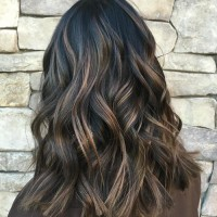 Chocolate Highlighted Hair