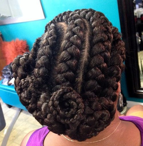 Coiled Hairstyle